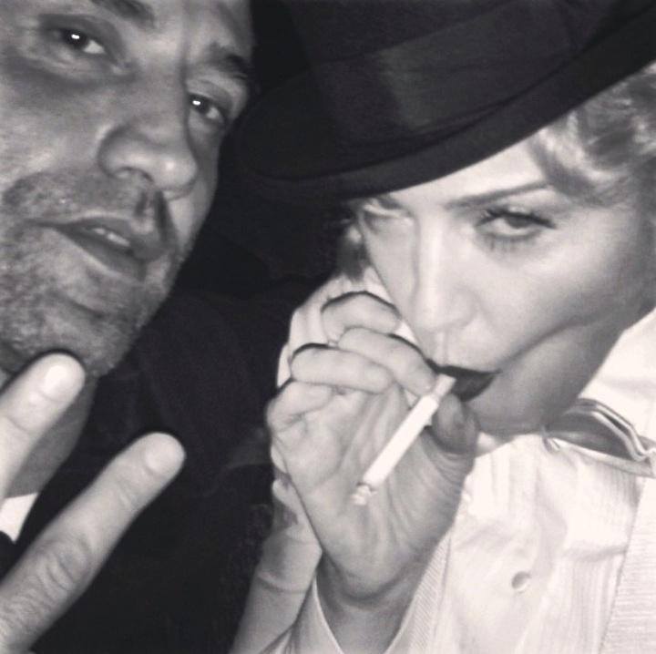 Madonna lingerie sexy smoke