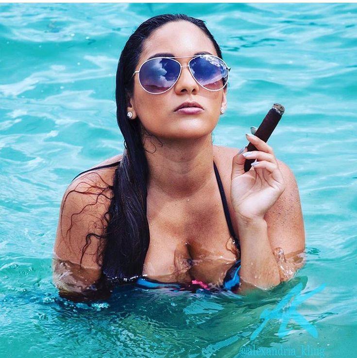 nice body big boobs cigar smoke