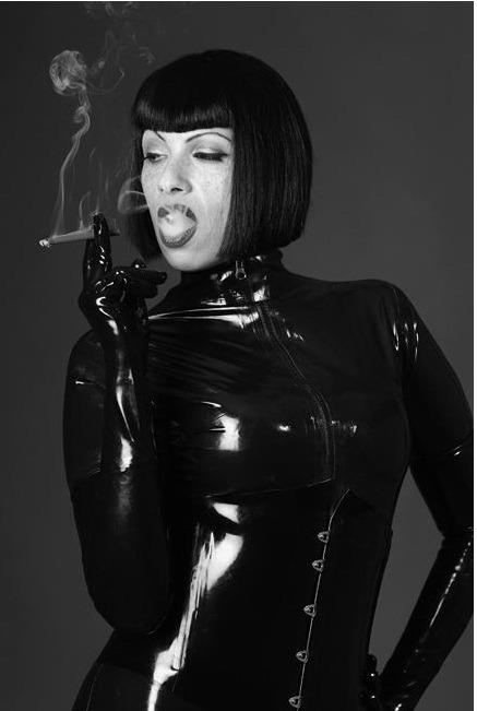 brutal latex sex cigar smoke fetish