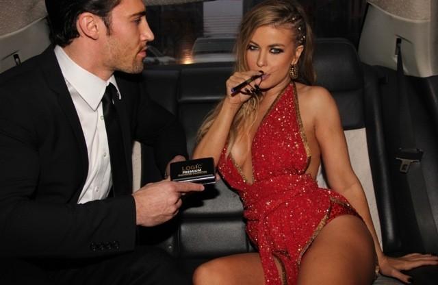 carmen electra nude porno cigar smoke