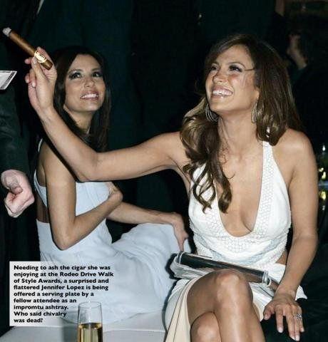 celebrity cigar smoker jennifer lopez