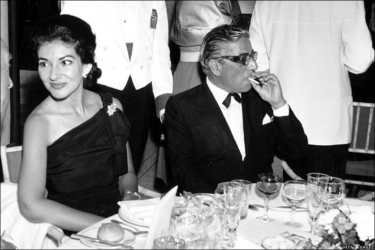 Maria Callas and Aristotele Onassis smoking - cigarmonkeys.com