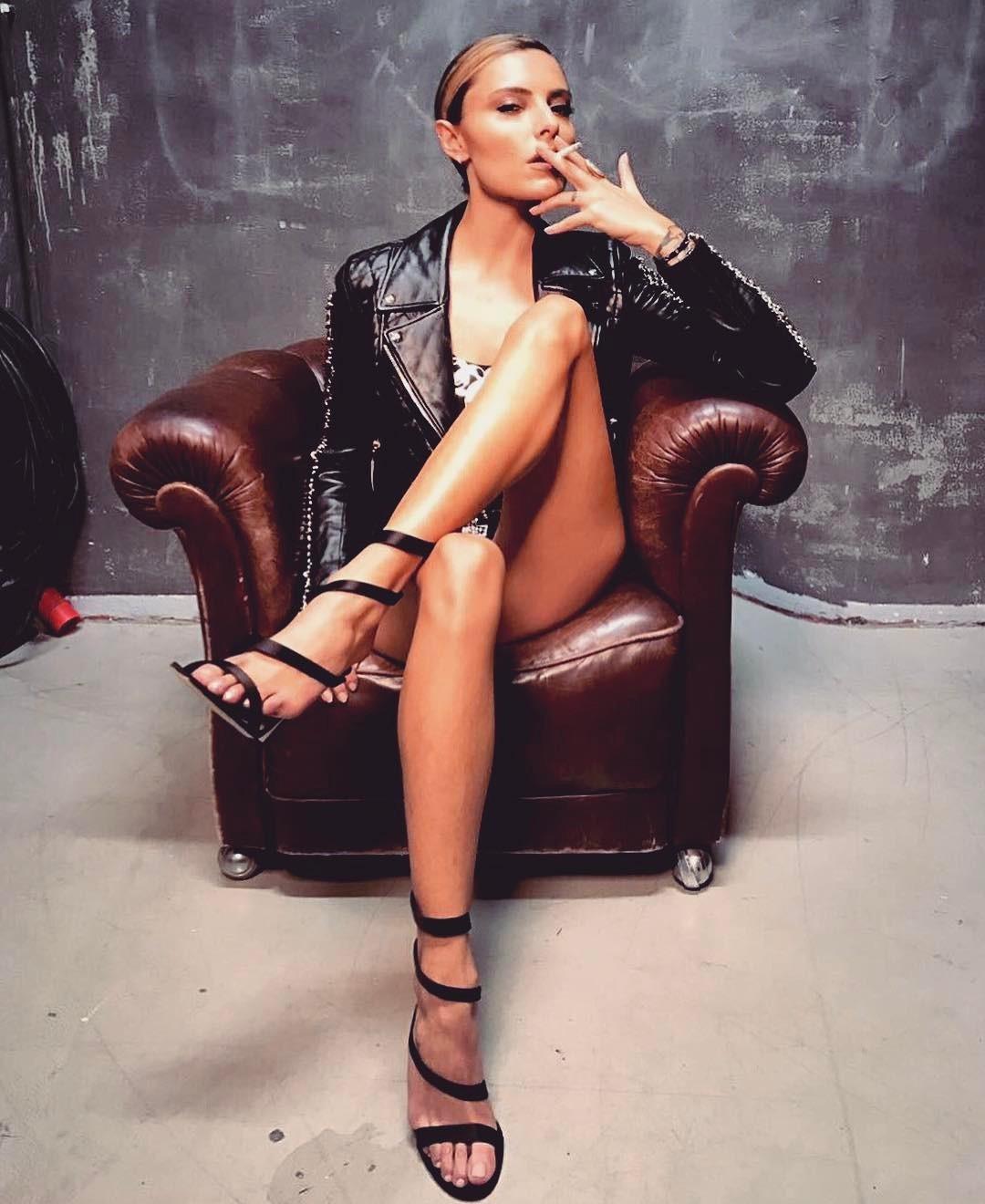 Sophia Thomalla Smoking Cigar & Cigarette - The CigarMonkeys