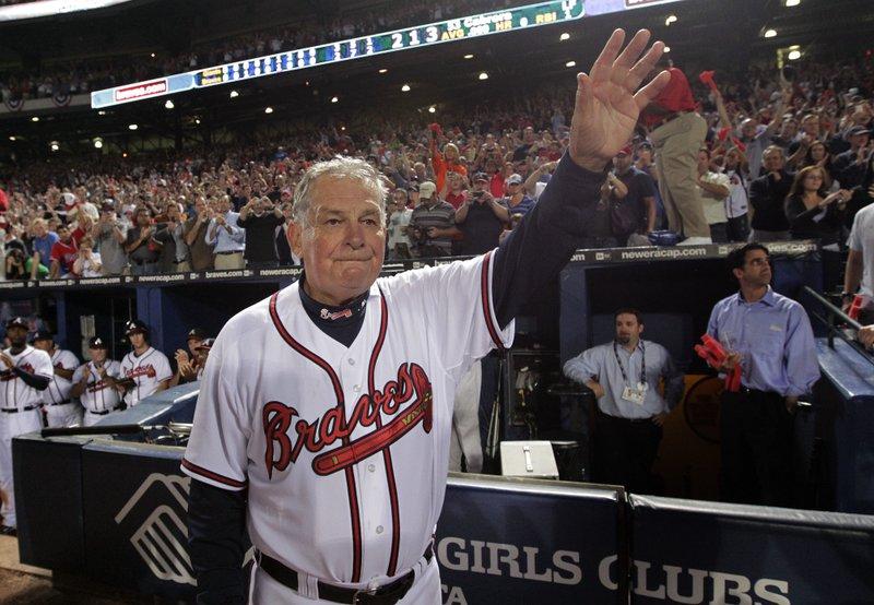Bobby Cox Former Baseball Clubhouse Manager cigar smoking - cigarmonkeys.com - famous cigar smokers sport