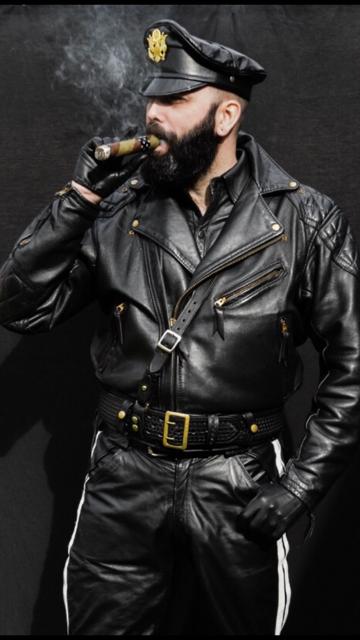 Cigar & Men In Leather Uniforms (150 Photos)  The