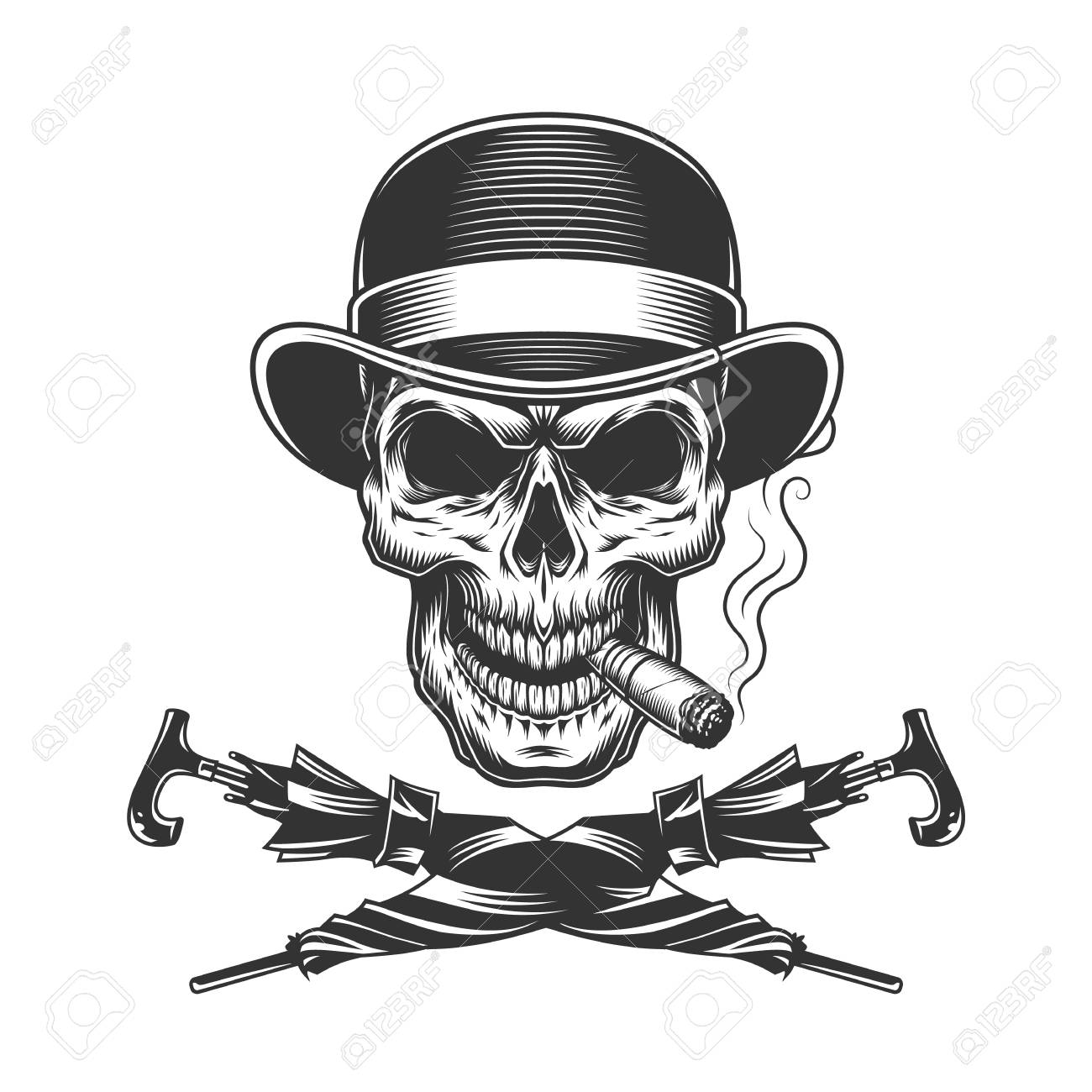 Skull And Cigar And Hat 55 Ideas The CigarMonkeys